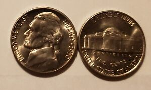 Pulled from OBW Rolls 2001 P /& D Jefferson Nickel Set