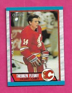 1989-90-OPC-232-FLAMES-THEO-FLEURY-ROOKIE-NRMT-MT-CARD-INV-C4025