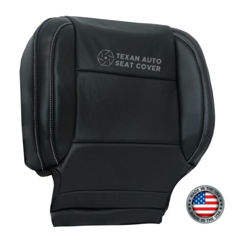 2015 2016 2017 Chevy SUBURBAN Driver Bottom Perforated Vinyl Seat Cover Black