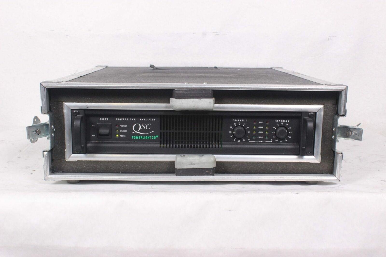 QSC Powerlight 2.0HV Power Amplifier 2000W w  2RU Hard Case