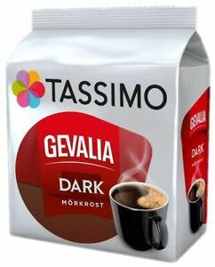 TASSIMO Gevalia Dark Coffee T Discs Pods 8/16/32/48/80/160 Drinks