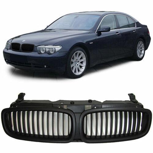 BMW E65 /& E66 7 SERIES BLACK DEBADGED FRONT GRILL 2001-2005 PREFACELIFT MODEL