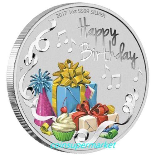 Australia 2017 Happy Birthday 1oz Silver Coin Colorized Perth Mint Presentation