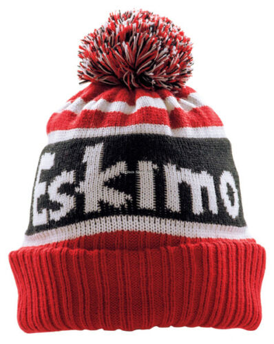 NEW ESKIMO Ice Fishing Knit Hat Fleece Lined With Pom 303630091010