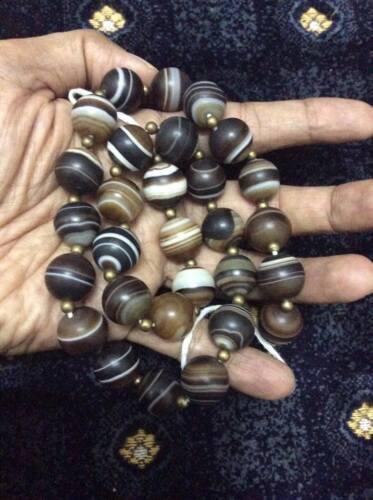 """17/"""" strand Seller Egyptian Suleiman Yemeni Agate Stone Necklace عقيق سليماني"""