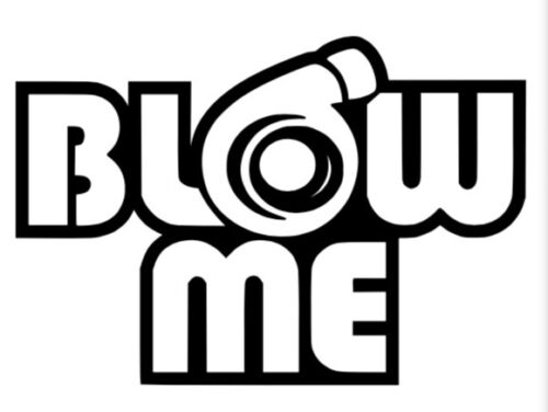 Blow Me Funny decal//sticker w// Free Shipping Multiple colors available!