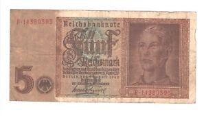 1939-Nazi-Germany-5-Reichsmark-banknote-SWASTIKA