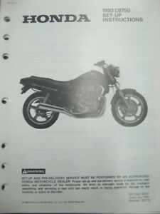 Details about 93 Honda CB750 Set Up Instructions Wiring Diagram on