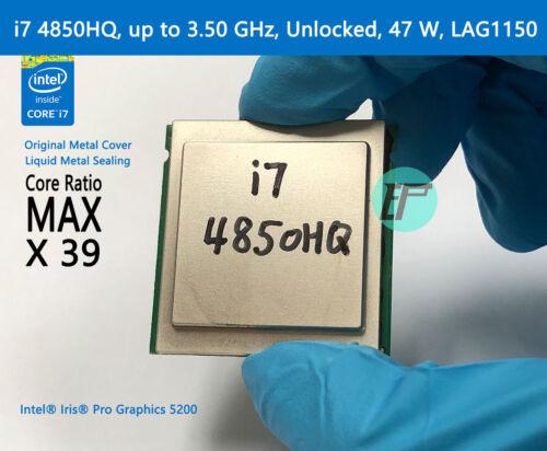 47 W Unlocked up to 3.50 GHz LGA1150 MAGIC REFORM Intel Mobile CPU i7 4850HQ