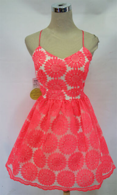 NWT WINDSOR $80 Neon Pink Dance Prom Party Dress 5