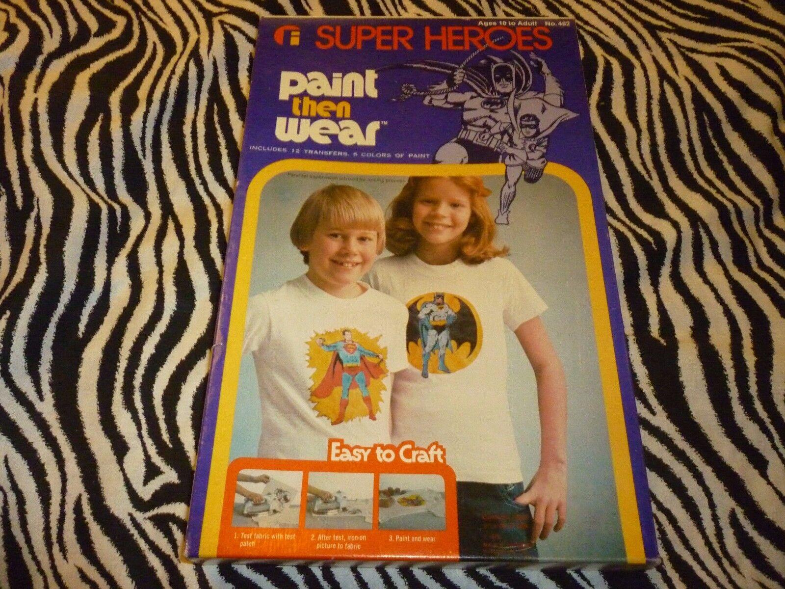Vintage Super Heroes Paint Then Wear - New