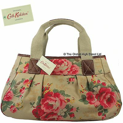Cath Kidston Pleated Shoulder Bag Country Rose (sand) *100% authentic* *BNWT*