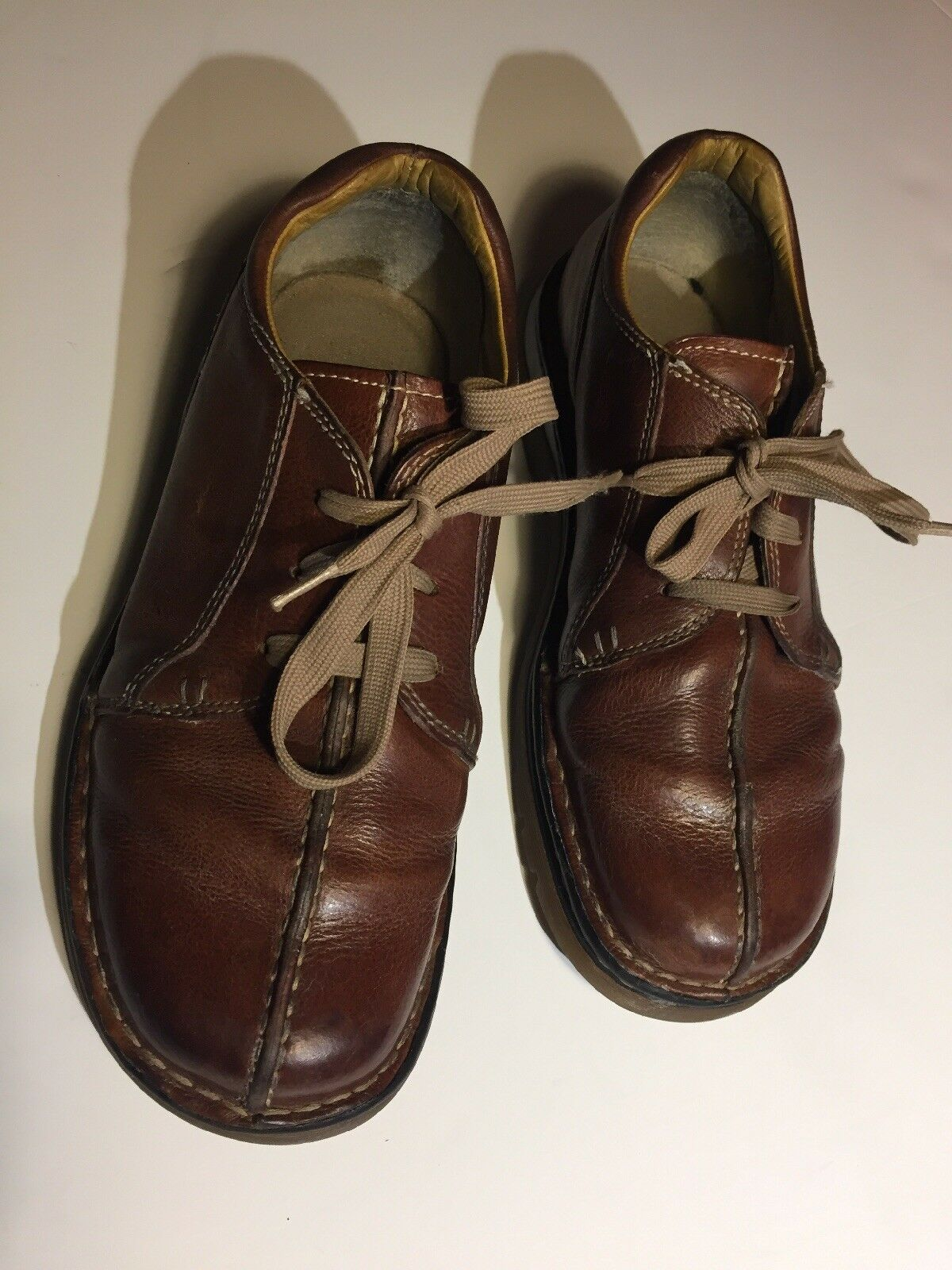 Dr Doc Martens 11232 Brown Leather Split Toe Oxfords shoes US 10 GREAT CONDITION