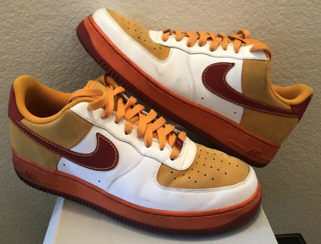 Nike Air Force 1 Low 07 VARSITY RED ORANGE | Mens Size 12 | 315122-161