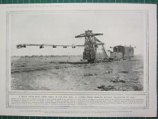 1915 WWI WW1 PRINT ~ LIGHTING TRUCK ENABLING RAILWAY CONSTRUCTION BY NIGHT