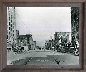 Vintage Bay Bridge San Francisco Oakland Barnwood Framed Wall Art Decor Picture