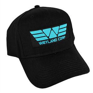 ALIEN Movie PROMETHEUS Weyland Corp Cyan Sci fi Patched Black Baseball Cap Hat