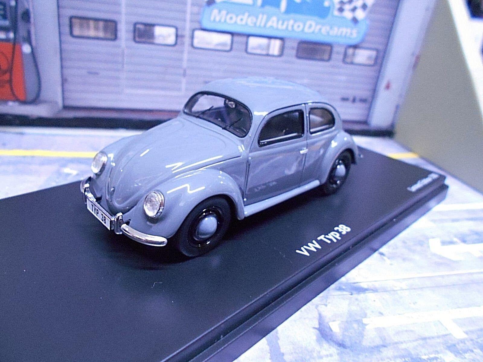 VW Volkswagen Käfer Prototype Typ 38 38 38 Typ38 grau grau Schuco ProR Resin 1 43  | Ausgezeichnetes Preis  a04e7b