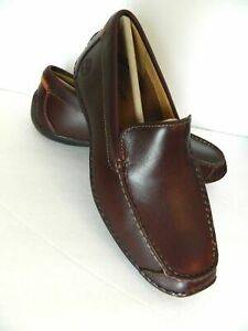 ROOT BEER SLIP-ON LEATHER SHOES