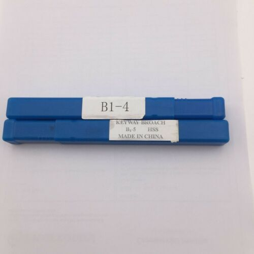 Keyway Broach 4mm+5mm B Push Type HSS with Shim Involute Spline Cutting Tool