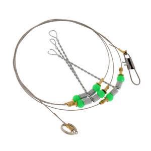 6-Swivel-String-Fishing-Hook-Anti-Winding-Steel-Sea-Fishing-Rigs-Wire-Leader
