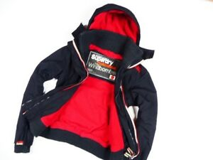 SUPERDRY-WOMEN-039-S-PROFESSIONAL-JACKET-THE-WINDBOMBER-HOODED-BLACK-s-S