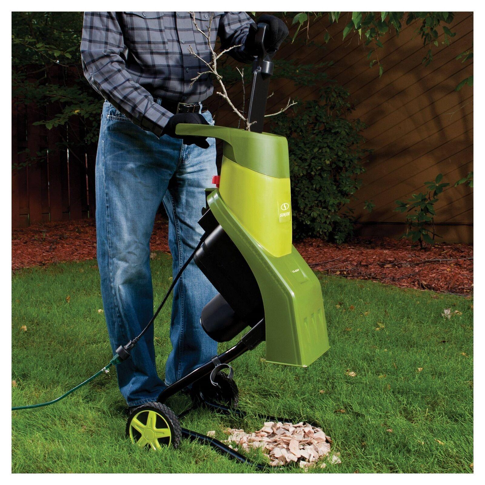 Wood Chipper Grinder Shredder Electric Mulcher Garden Yard Lawn Branch Leaf New