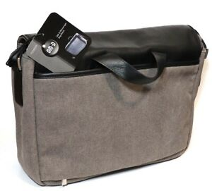 Olympus-OM-D-Messenger-Bag-Black-Leather-amp-Canvas-With-Tags-Free-UK-Post