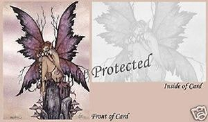 Amy-Brown-Bashful-faery-pixie-Fairy-Greeting-Card-NEW