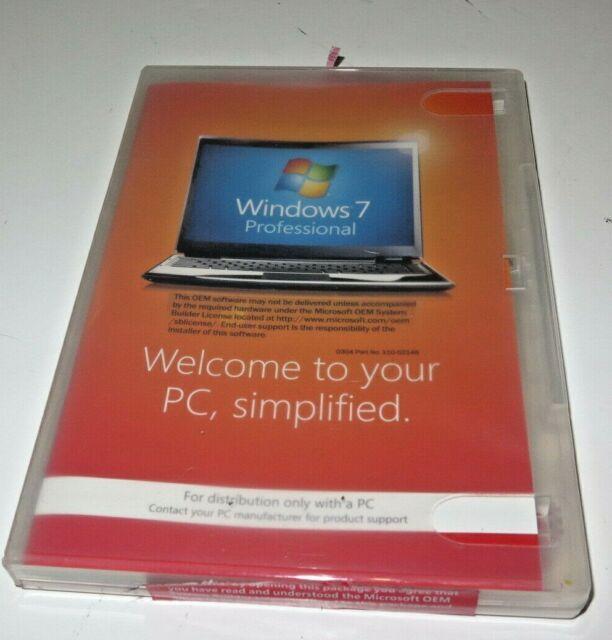 Microsoft Windows 7 Professional 64BIT