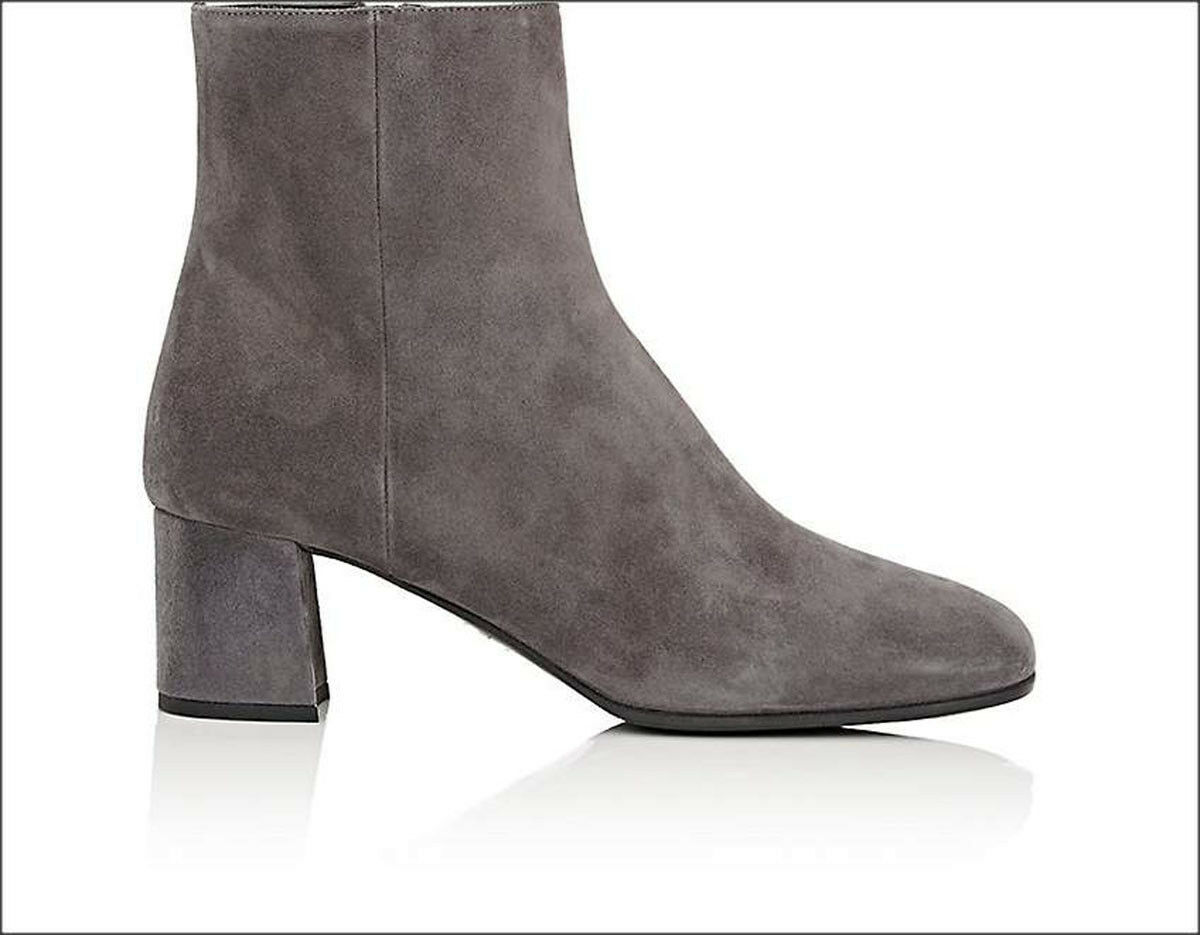 795 NIB Prada Suede Ankle Boots Booties Booties Booties shoes Grey Size 40.5 10.5 Made in  8d556f