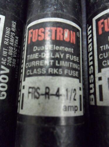 Nice Lot Bussmann Fusetron FRS-R-5 Amp Fuses Class RK5 600 Volts