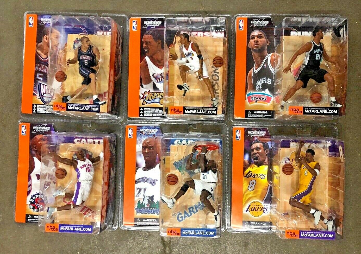 61 FIGURE LOT McFarlane NBA Series 1-9 Nearly Every Figure Basketball VHTF