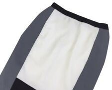 Narciso Rodriquez NWOT White/Black/Gray Colorblock Pencil Skirt Size 12