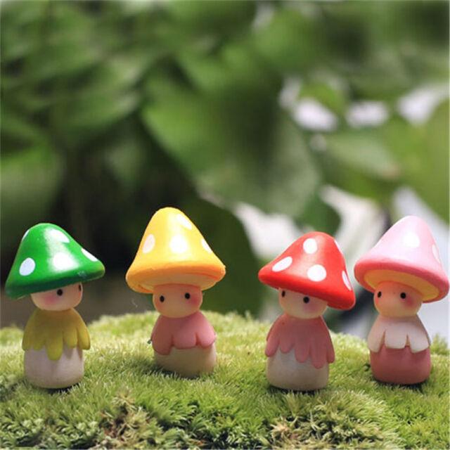 Ordinaire 2pcs Mini Mushroom Dolls Micro Landscape Bonsai Fairy World Craft Garden  Decor