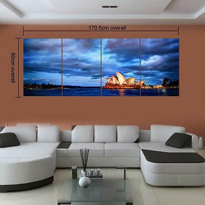 Large Sydney Opera House Unframed Picture Wall Art Painting On Canvas Poster