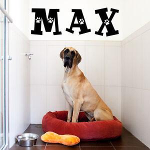CUSTOM DOG NAME VINYL WALL DECAL STICKER ARTLETTERSWORDS HOME - Custom vinyl wall decals dogs