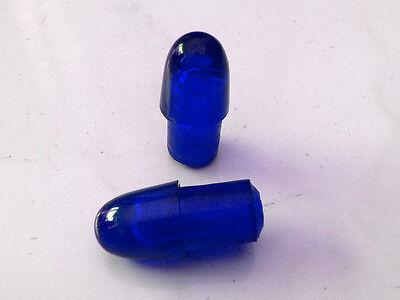 BLUE Ulma gems for Vespa Lambretta crash guard end caps 12mm