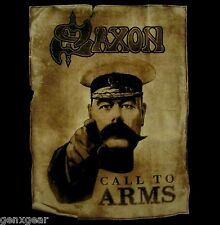 SAXON cd cvr CALL TO ARMS Official SHIRT MED new