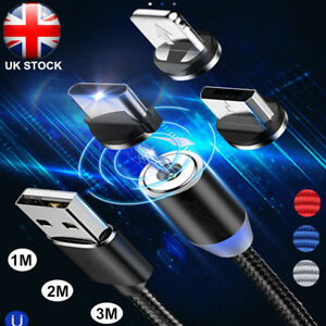 1-3M-360-Strong-Magnetic-Plug-Charging-Cable-For-iPhone-Sumsung-Fast-Charger-UK