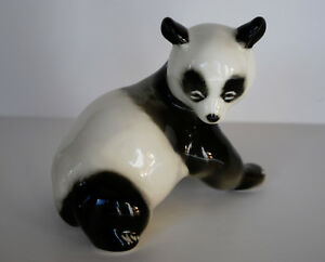 Lomonosov PORCELAIN Figurine BEAR PANDA BABY.Simply perfect