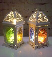 Matrimoni 2 x Lanterne in metallo con 2 libero X 20 LED LUCI