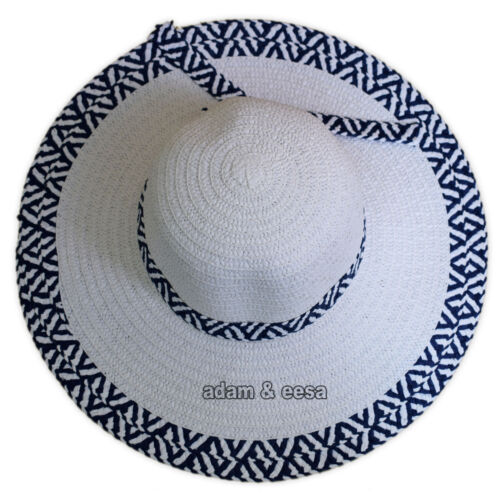 Womens Straw Sun Hats Wide Brim Summer Holiday Lightweight One Size Ribbon