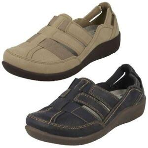 Sin Casual Clarks Mujer Zapatos Cigüeña Sillian Cordones vUO1Bwqx