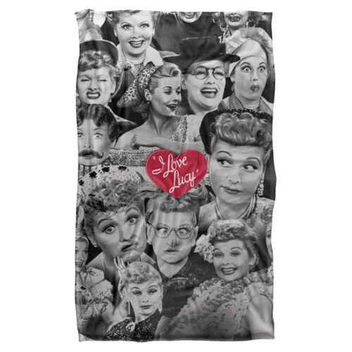 "I LOVE LUCY FACES Lightweight Super Soft Fleece Blanket 36/"" x 58/"""