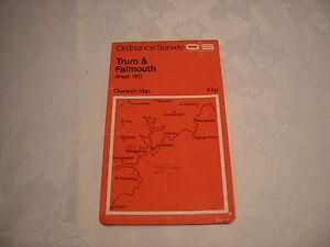 ORDNANCE SURVEY MAP 190 1972 TRURO amp FALMOUTH - Epsom, Surrey, United Kingdom - ORDNANCE SURVEY MAP 190 1972 TRURO amp FALMOUTH - Epsom, Surrey, United Kingdom
