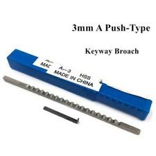 Cnc Machine Tools 3mm A Push Type Keyway Broach Cutter Cutting Hss Metric Size