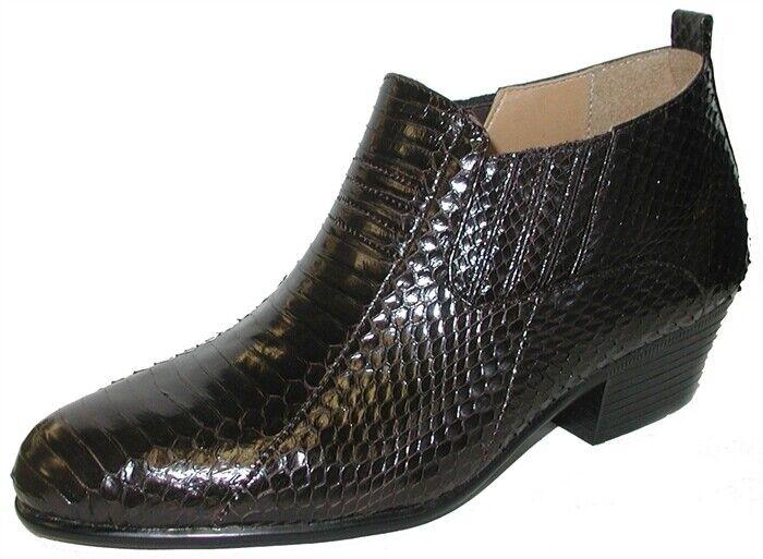Nuevo Para Hombre botas De Cuero De Vestir Giorgio Brutini con talón de Cuba-piel de serpiente