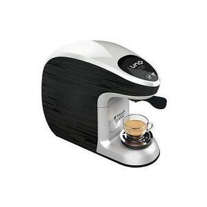 HOTPOINT-Macchina-Caffe-Espresso-Uno-Capsule-Illy-e-Kimbo-Colore-Grigio-e-nero