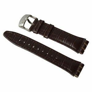 NEU-Armband-ORIGINAL-strap-bracelet-cinturino-Swatch-Irony-NEW-Chrono-BROWNED